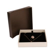 Conjunto de anel de pulseira de colar rígida Kraft caixas de presente