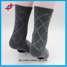 Soft Breathable Men's Business Terry Cotton Socks logo personnalisé