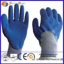 Interlock lined Crinkle Finish latex coatd working Glove