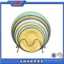 Unterschiedliche Größe Runde Rice Plate Emaille Deep Dish