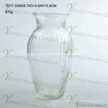 Machine Pressed Clear Glass Flower Vase