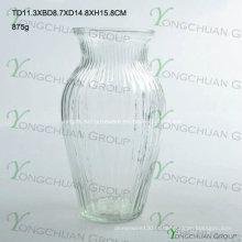 Máquina pressionado vidro transparente vaso de flores