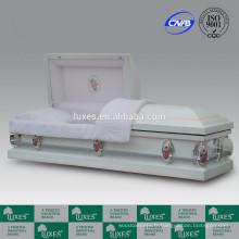 LUXES cercueils métalliques fabricant de la Chine pour les funérailles