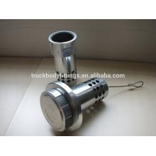 fuel defend--aluminum polished anti siphon diesel tank cap
