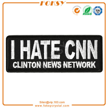 Odeio o patch de bordado da CNN Clinton News Networks