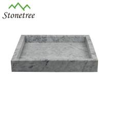 Bandeja de mármore verde da bandeja da vaidade do mármore da pedra natural de 100%