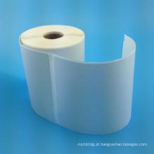 Rolo de etiqueta de jato de tinta personalizado de 2016 rolo de etiqueta de papel em branco adesivo