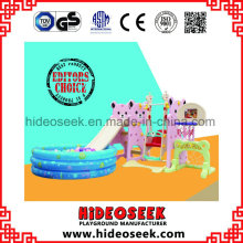 Daycare Center Baby Slide with Swing and Bastket Ball Hoop