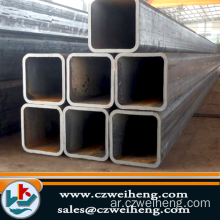 SS400 OILED BLACK SQUARE STEEL PIPE / TUBE BUILDING MATERIAL