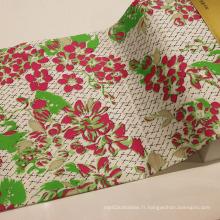 Tissu imprimé en coton pour vêtement