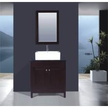 Wooden Floor Bathroom Vanity (B-261)