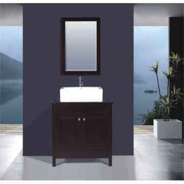 Wooden Floor Bathroom Vanity (B-261)