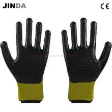 U203 Нитрил с покрытием Zebra-Stripe Construction Safety Work Gloves