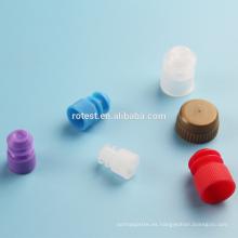 Tapón de tubo de ensayo de plástico diámetro 12 mm / 13 mm / 15 mm / 16 mm