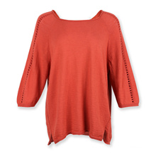 Recycle cotton womens knit sweater women plus size  sweater pointelle in sleeve christmas sweater