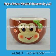 Bol en céramique multicolore en forme de singe pour les ventes directes en usine