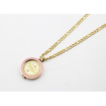 Popular Enamel Floating Locket Pendant Necklace