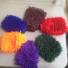 China supplier microfiber car wash mitt chenille glove