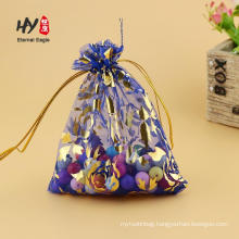 Fancy organza pouches various shaped bags custom