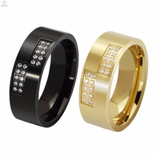 Cool Oem Stainless Steel Rose Gold Rings Women Without Diamond Jewelry