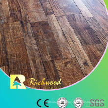 12.3mm E0 HDF AC3 Embossed Oak V-Grooved Laminate Floor