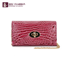 HEC China Factory Luxury Style PVC Leather Pocket Lady Wallet Money Bag