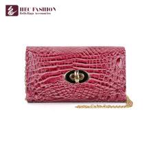 HEC China Factory Luxo Estilo PVC Couro Bolso Lady Wallet Money Bag