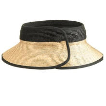 Ladies Upscale Beach Hollow Straw cap with collapsible