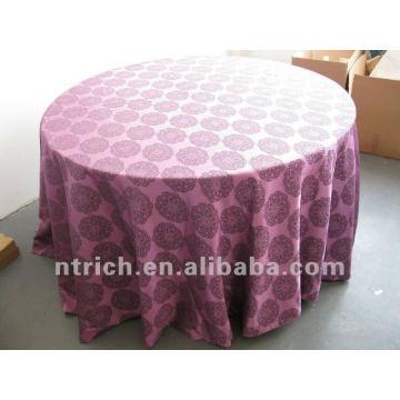 Damasco, toalha de mesa, tampa de mesa, toalhas de mesa, cor roxa, pano de tabela do jacquard, toalha de mesa do hotel, bom padrão e tecido forte