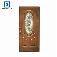 Porte à panneau en fibre de verre avec porte coulissante
