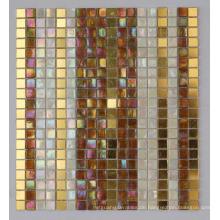 Schillernde Mosaikmischung Gold Mosaikfliese (HC-28)