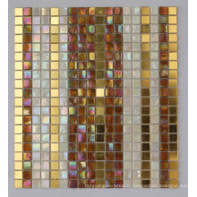 Mosaïque en mosaïque iridescent Mosaïque en or (HC-28)