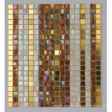 Iridescent Mosaic Mix Gold Mosaic Tile (HC-28)