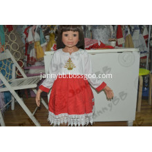 Kids Girls Long Sleeve Embroidery Dress