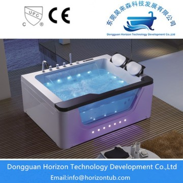 Glass massge bathtub with silicone pillow