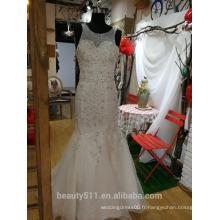 Court Train Sweetheart Tulle avec Beading Sequin Appliques Robe de mariée P095