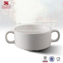 La vajilla japonesa dos maneja el cuenco de sopa barato de cerámica