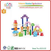 Mädchen-Traum-Reihen-hölzerne pädagogische Spielwaren 40pcs Bausteine für Kinder