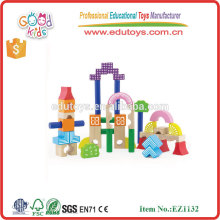 Girls Dream Series Wooden Educational Toys 40pcs Building Blocks for kids