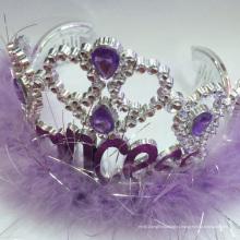 Новые Пластиковые Фея Мигающий Металлик Принцесса Тиара Корона
