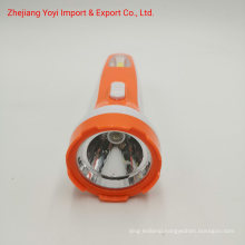 Orange Color 8666 New ABS Plastic COB Side Light 1W Rechargeble Torch Flashlight