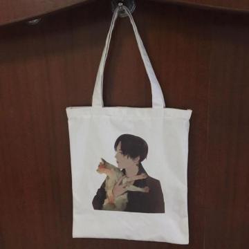 bolso de compras de lona para estudiantes