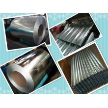 Hdgi / Gi Folha de aço galvanizado a quente em bobina / chapa metálica ondulada