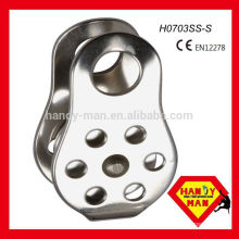 H0703SS-S CE EN12278, Rope size13mm, Stainless Steel Fixed Side Pulley