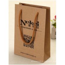 Sacs-cadeaux Kraft à bas prix, logo personnalisé pour sac en papier promotionnel