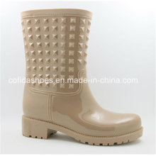 Unique Fashion Sexy High Heels Women Rubber Rain Boots