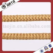 Cuerda decorativa del producto de la tela de la manera de la fábrica usada para la cuerda de la bandera del amortiguador del sofá