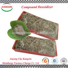 Desoxidante compuesto de alta eficiencia para reducción de gas en la fabricación de acero