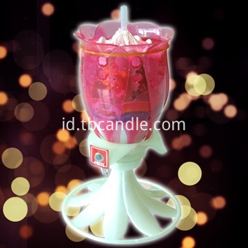 music rotating candle