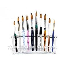 Support de brosse acrylique de maquillage sur mesure